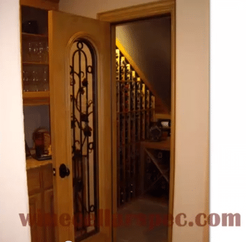 Watch this video to see the wine cellar design process.