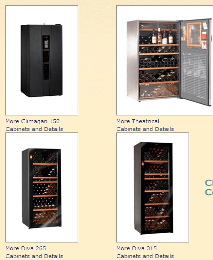 Climadiff Wine Cabinets Chicago